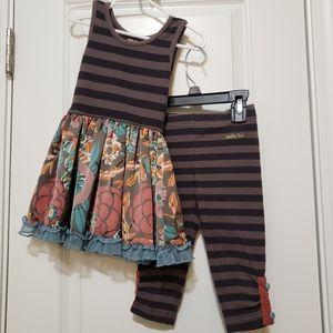 Matilda Jane Dress with Matching Jeggings